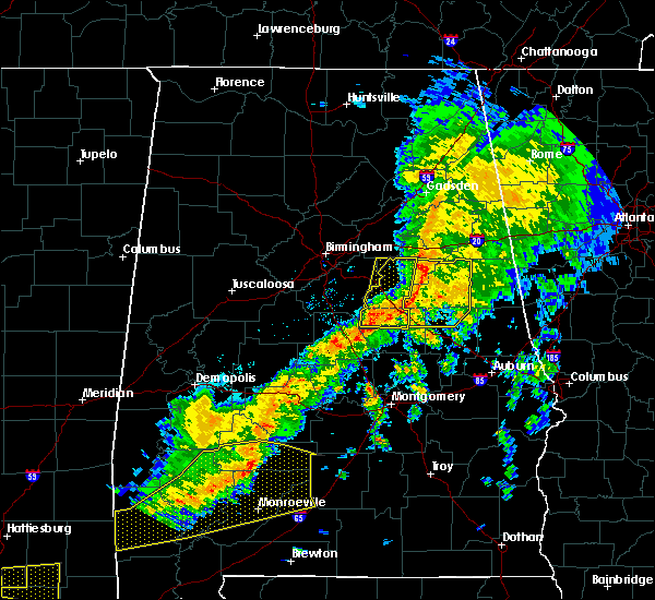 Radar Image for Severe Thunderstorms near Pell City, AL at 3/31/2020 8:54 AM CDT