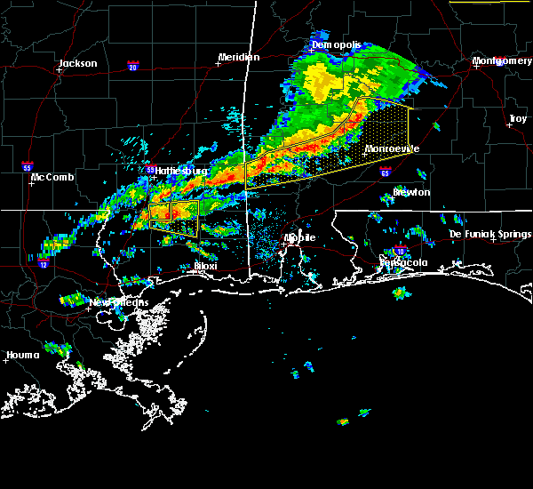 Radar Image for Severe Thunderstorms near Vredenburgh, AL at 3/31/2020 9:00 AM CDT
