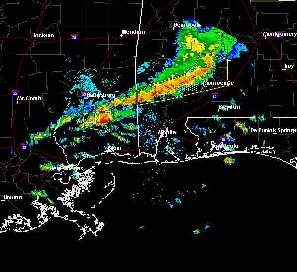 Radar Image for Severe Thunderstorms near Vredenburgh, AL at 3/31/2020 9:05 AM CDT
