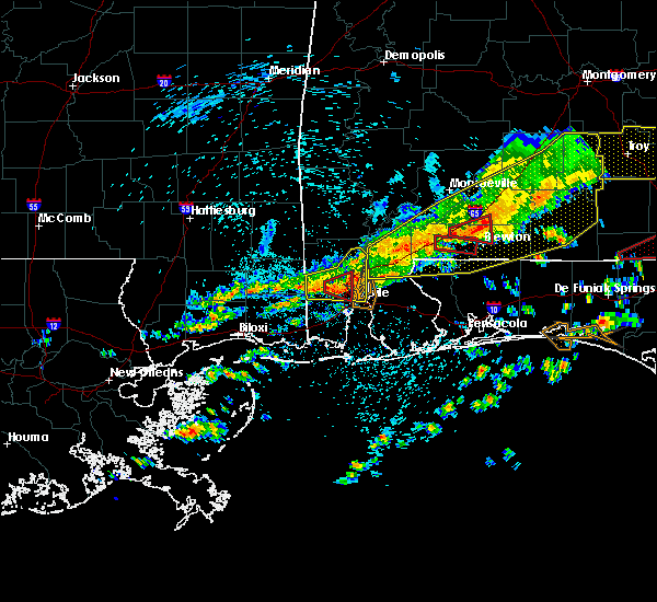 Radar Image for Severe Thunderstorms near Spanish Fort, AL at 3/31/2020 10:29 AM CDT