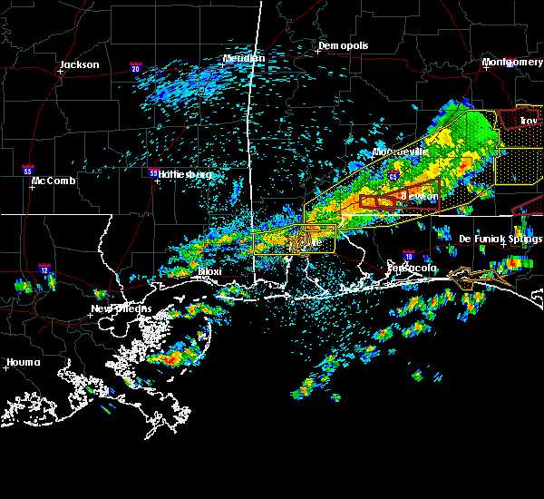 Radar Image for Severe Thunderstorms near Spanish Fort, AL at 3/31/2020 10:43 AM CDT