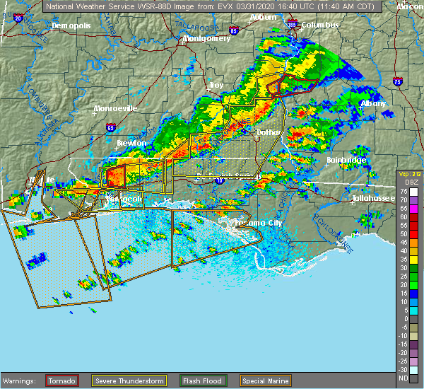 Radar Image for Severe Thunderstorms near Whitfield, FL at 3/31/2020 11:48 AM CDT