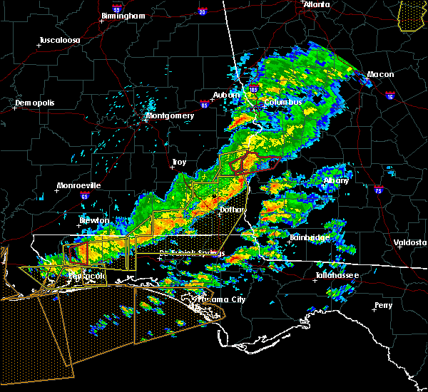Radar Image for Severe Thunderstorms near Shellman, GA at 3/31/2020 12:53 PM EDT