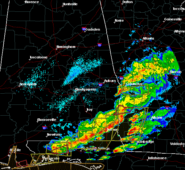 Radar Image for Severe Thunderstorms near Columbus, GA at 3/31/2020 1:07 PM EDT