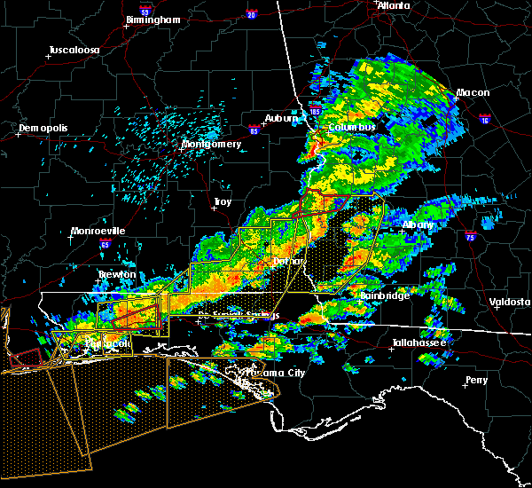 Radar Image for Severe Thunderstorms near Shellman, GA at 3/31/2020 1:08 PM EDT