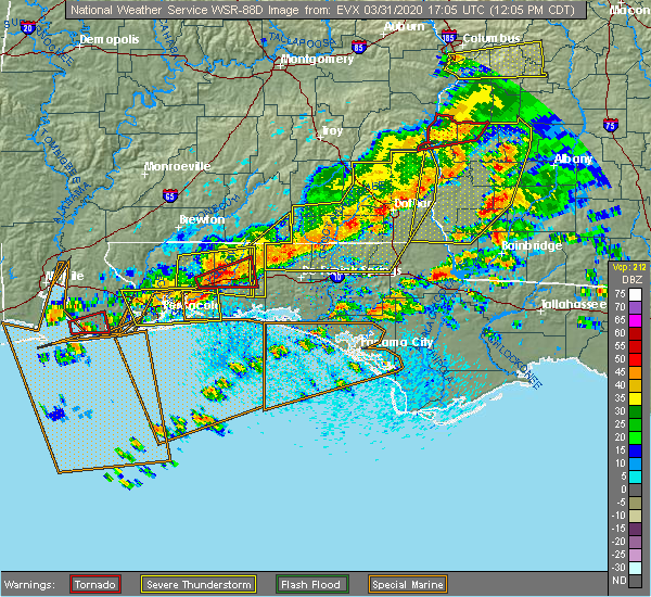 Radar Image for Severe Thunderstorms near Midway, FL at 3/31/2020 12:12 PM CDT