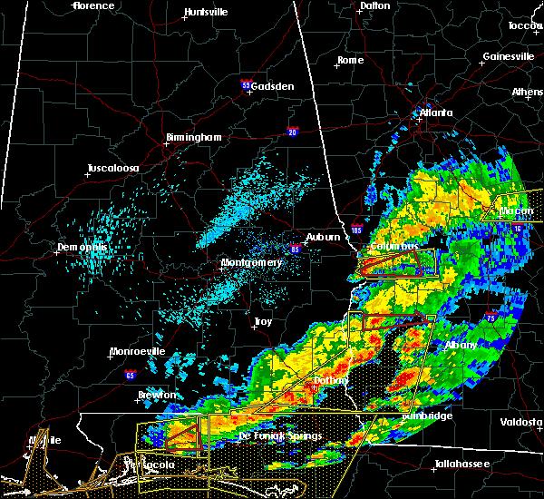 Radar Image for Severe Thunderstorms near Columbus, GA at 3/31/2020 1:18 PM EDT