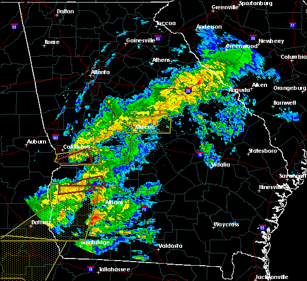Radar Image for Severe Thunderstorms near Toomsboro, GA at 3/31/2020 1:30 PM EDT