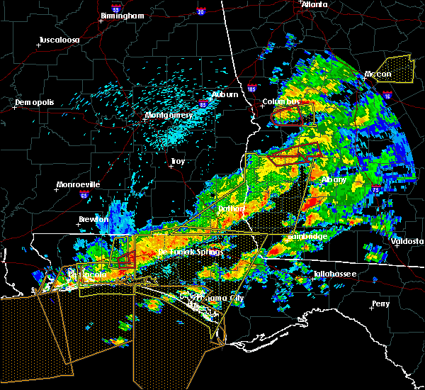 Radar Image for Severe Thunderstorms near Shellman, GA at 3/31/2020 1:34 PM EDT