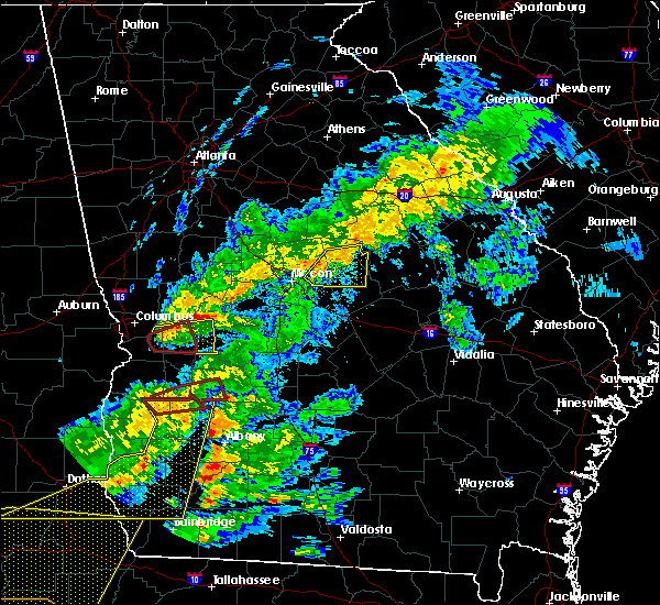 Radar Image for Severe Thunderstorms near Vienna, GA at 3/31/2020 1:36 PM EDT