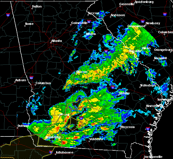 Radar Image for Severe Thunderstorms near Pitts, GA at 3/31/2020 2:36 PM EDT