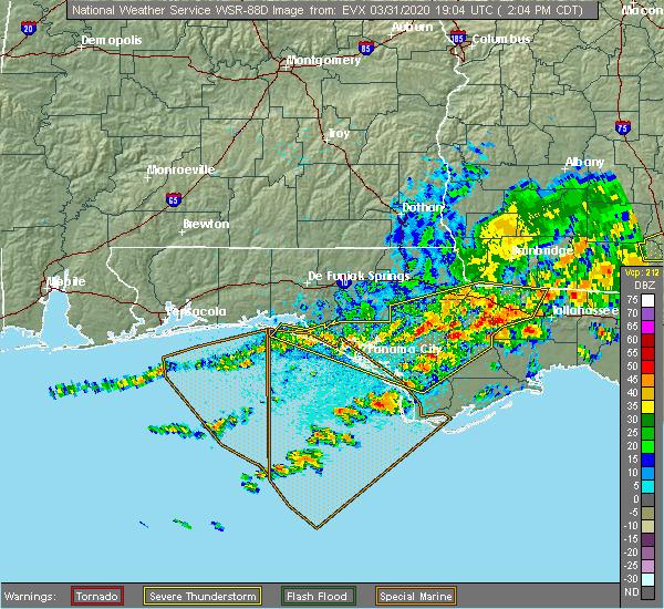 Radar Image for Severe Thunderstorms near Gretna, FL at 3/31/2020 2:11 PM CDT