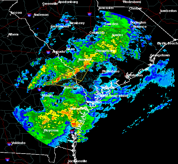 Radar Image for Severe Thunderstorms near Fairfax, SC at 3/31/2020 4:08 PM EDT