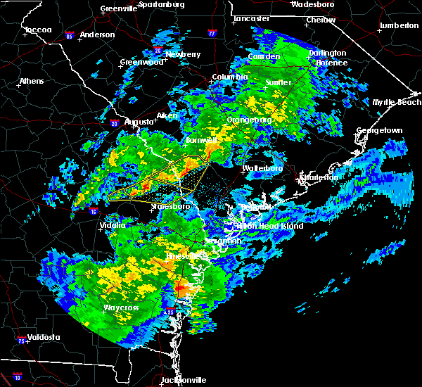 Radar Image for Severe Thunderstorms near Fairfax, SC at 3/31/2020 4:25 PM EDT