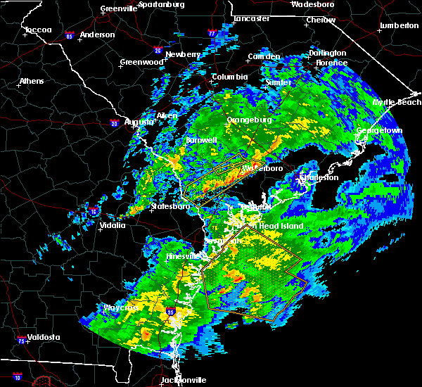 Radar Image for Severe Thunderstorms near Ravenel, SC at 3/31/2020 5:12 PM EDT