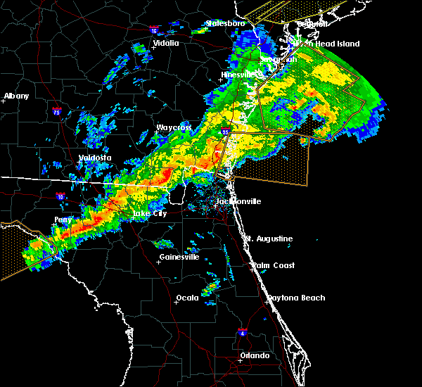 Radar Image for Severe Thunderstorms near Yulee, FL at 3/31/2020 5:30 PM EDT