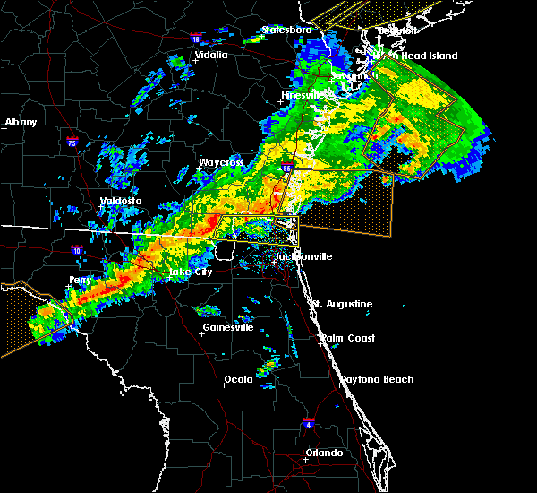 Radar Image for Severe Thunderstorms near Jacksonville, FL at 3/31/2020 5:30 PM EDT