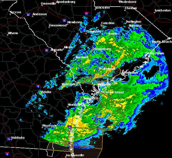 Radar Image for Severe Thunderstorms near Ravenel, SC at 3/31/2020 5:37 PM EDT