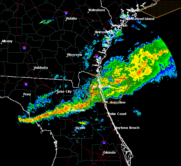 Radar Image for Severe Thunderstorms near Palm Valley, FL at 3/31/2020 7:10 PM EDT