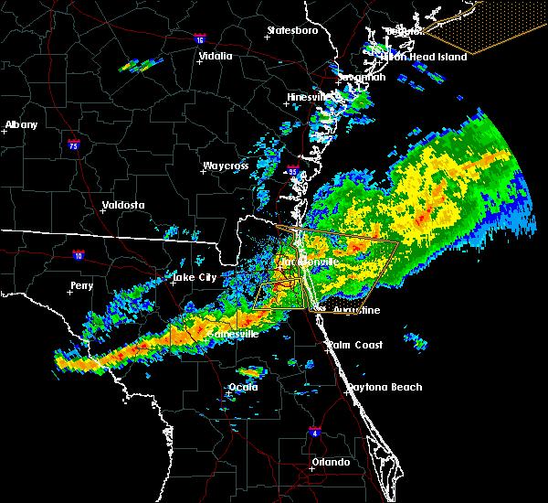Radar Image for Severe Thunderstorms near Jacksonville, FL at 3/31/2020 7:10 PM EDT
