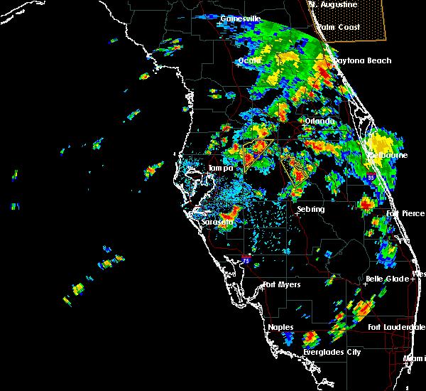Radar Image for Severe Thunderstorms near Lakeland, FL at 6/25/2015 4:12 PM EDT