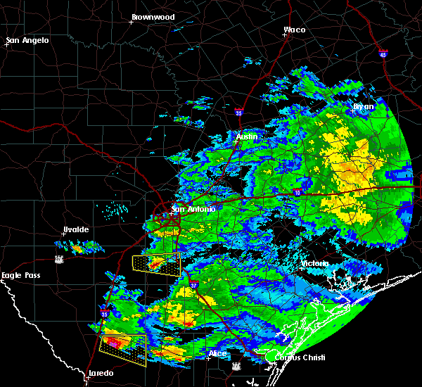 Radar Image for Severe Thunderstorms near Christine, TX at 4/3/2020 9:48 PM CDT