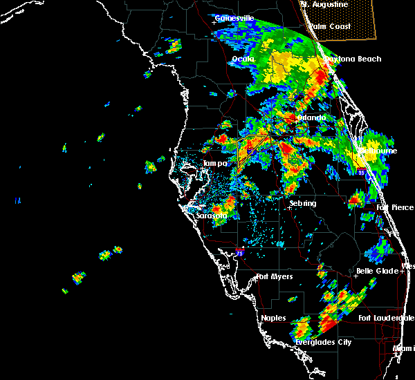 Radar Image for Severe Thunderstorms near Lakeland, FL at 6/25/2015 4:27 PM EDT