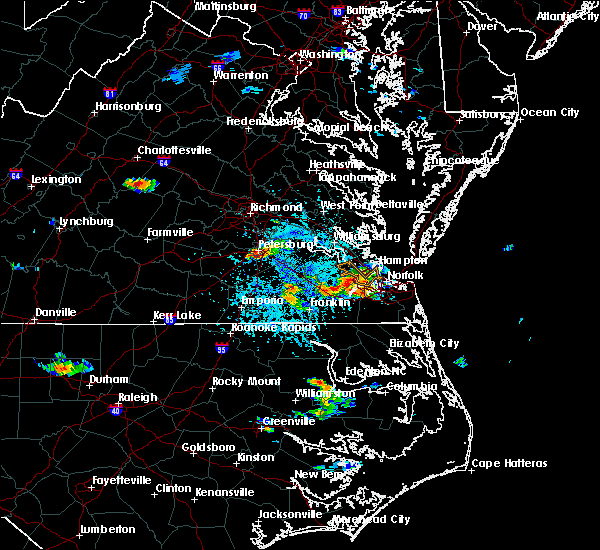 Radar Image for Severe Thunderstorms near Sussex, VA at 6/25/2015 4:31 PM EDT