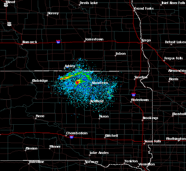 Radar Image for Severe Thunderstorms near Westport, SD at 4/6/2020 7:48 PM CDT