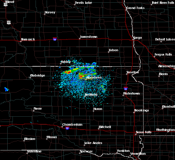 Radar Image for Severe Thunderstorms near Westport, SD at 4/6/2020 8:06 PM CDT