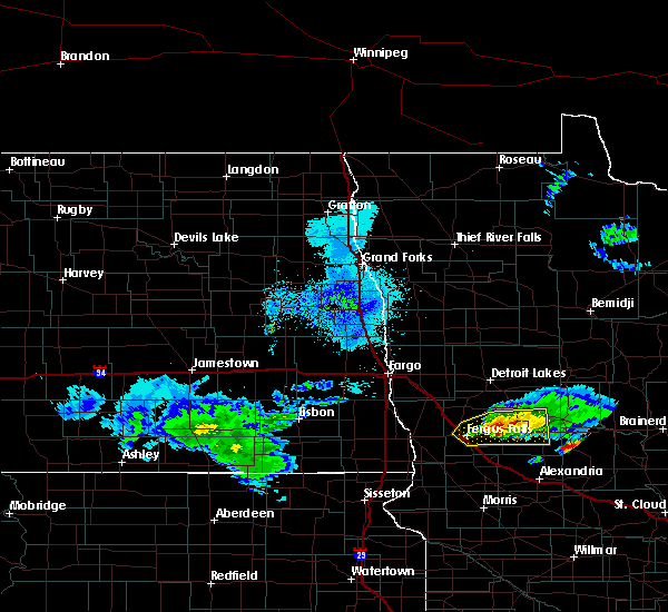 Radar Image for Severe Thunderstorms near Battle Lake, MN at 4/7/2020 2:54 AM CDT