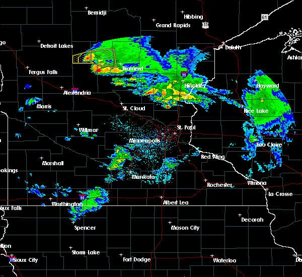 Radar Image for Severe Thunderstorms near Merrifield, MN at 4/7/2020 4:18 AM CDT
