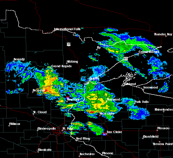 Radar Image for Severe Thunderstorms near Aitkin, MN at 4/7/2020 6:44 AM CDT
