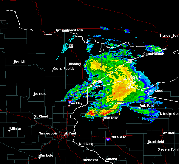 Radar Image for Severe Thunderstorms near Spooner, WI at 4/7/2020 8:58 AM CDT