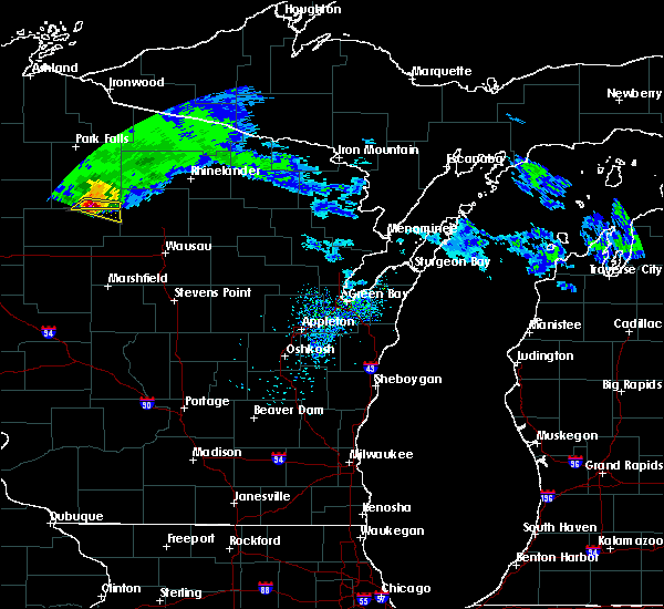 Radar Image for Severe Thunderstorms near Merrill, WI at 4/7/2020 10:20 AM CDT