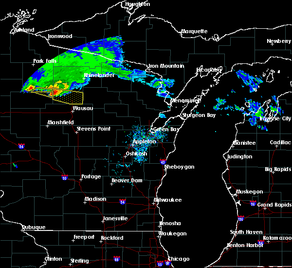 Radar Image for Severe Thunderstorms near Merrill, WI at 4/7/2020 10:33 AM CDT