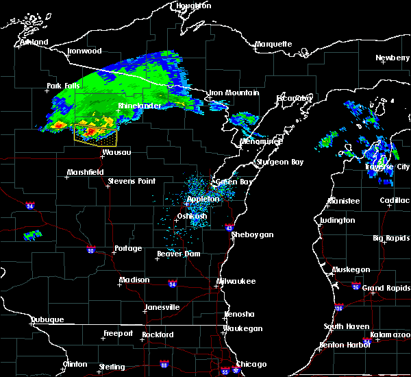 Radar Image for Severe Thunderstorms near Merrill, WI at 4/7/2020 10:48 AM CDT