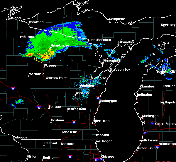 Radar Image for Severe Thunderstorms near Merrill, WI at 4/7/2020 10:57 AM CDT