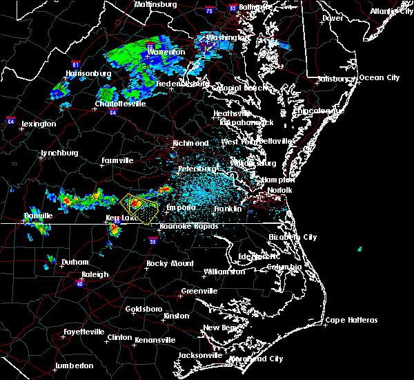 Radar Image for Severe Thunderstorms near Gasburg, VA at 4/7/2020 2:30 PM EDT
