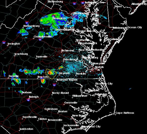Radar Image for Severe Thunderstorms near Gasburg, VA at 4/7/2020 2:43 PM EDT