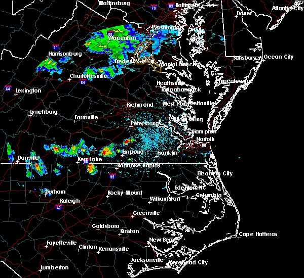 Radar Image for Severe Thunderstorms near Courtland, VA at 4/7/2020 2:49 PM EDT
