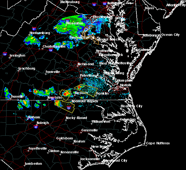 Radar Image for Severe Thunderstorms near Macon, NC at 4/7/2020 2:56 PM EDT