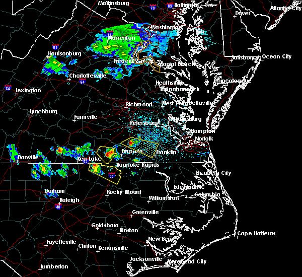 Radar Image for Severe Thunderstorms near Courtland, VA at 4/7/2020 3:03 PM EDT