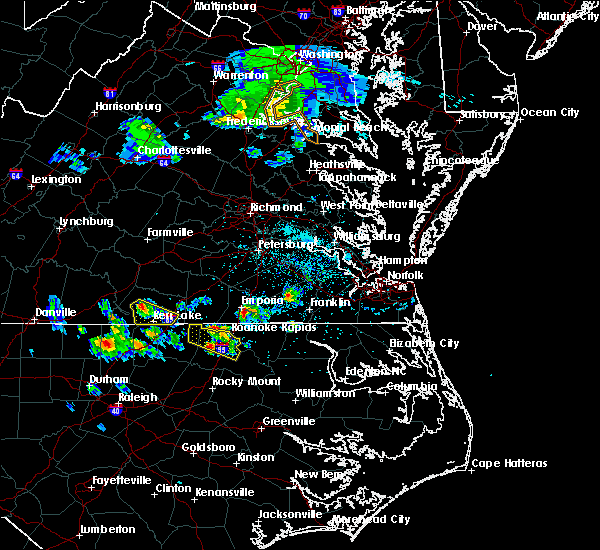 Radar Image for Severe Thunderstorms near Halifax, NC at 4/7/2020 3:25 PM EDT