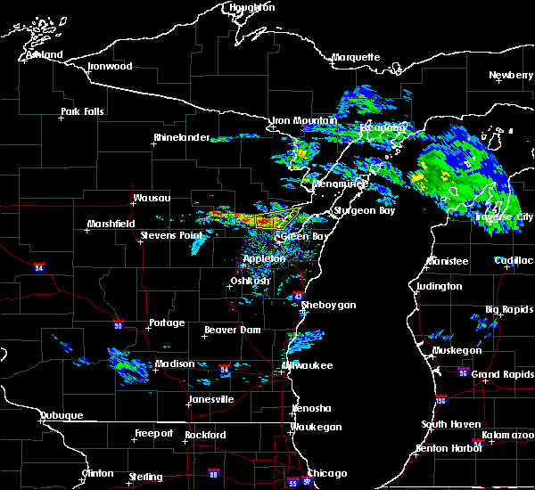 Radar Image for Severe Thunderstorms near Abrams, WI at 4/7/2020 2:37 PM CDT