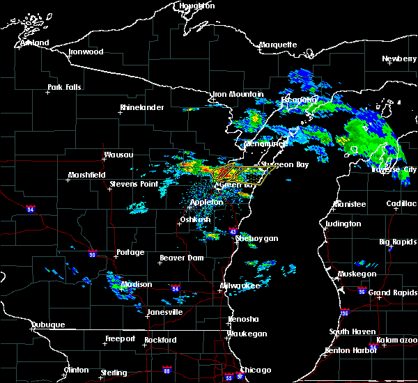 Radar Image for Severe Thunderstorms near Abrams, WI at 4/7/2020 2:49 PM CDT