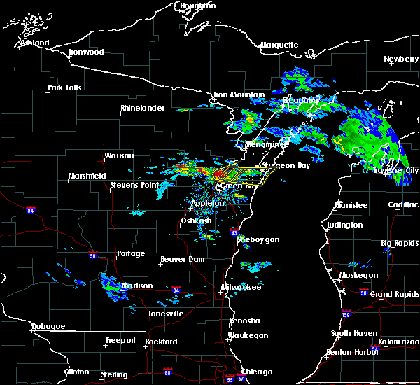 Radar Image for Severe Thunderstorms near Sturgeon Bay, WI at 4/7/2020 2:51 PM CDT
