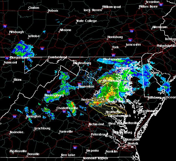Radar Image for Severe Thunderstorms near Warsaw, VA at 4/7/2020 4:00 PM EDT