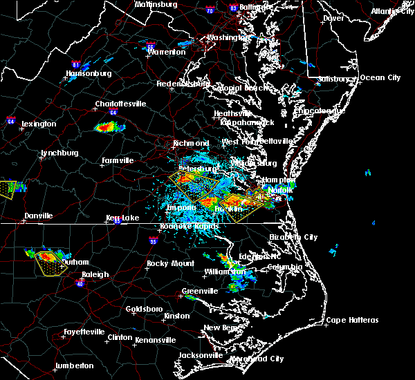 Radar Image for Severe Thunderstorms near Portsmouth, VA at 6/25/2015 4:52 PM EDT