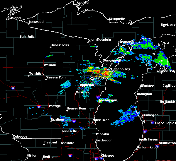 Radar Image for Severe Thunderstorms near Sturgeon Bay, WI at 4/7/2020 3:13 PM CDT
